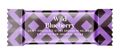 Goodio raakasuklaa 61% 30g blueberry luomu
