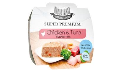 Hau-Hau Champion kana- ja tonnikalapate riisillä 100g
