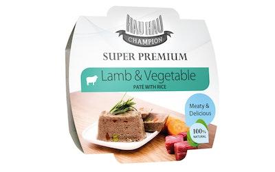 Hau-Hau Champion lammas- ja vihannespate riisillä 100g