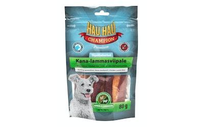 Hau-Hau Champion Täyslihaherkut Kana-lammasviipale 80g