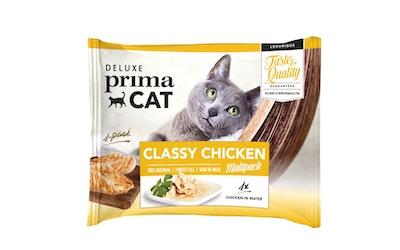 Deluxe PrimaCat classy chicken multipack 4x50g kanaa vedessä