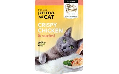 Deluxe PrimaCat crispy 50g kanaa ja surimia hyytelössä