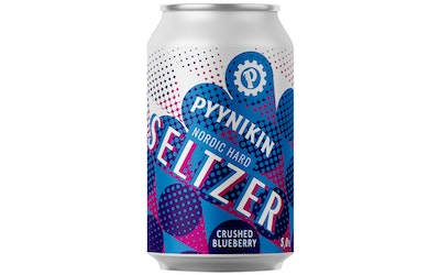 Pyynikin Nordic Hard Seltzer Crushed Blueberry 5% 0,33l