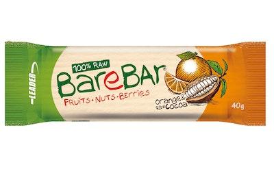 Barebar Natural Energy Bar 40g appelsiini-raakakaakao