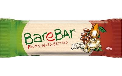 Barebar Natural Energy Bar 40g Taateli-Cashewpähkinä