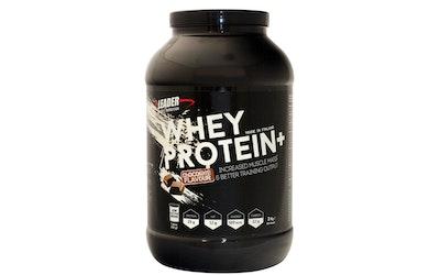 Leader sports nutrition whey protein+ urheiluravinne 2kg suklaanmakuinen heraproteiinijauhe