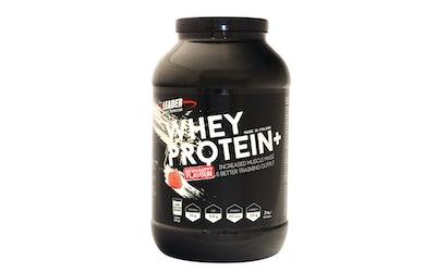 Leader Sports Nutrition Whey Protein Plus 2kg mansikanmakuinen heraproteiinijauhe urheiluravinne