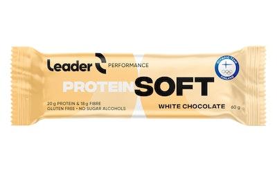 Leader SoftBar proteiinipatukka 60g valkosuklaa gluteeniton