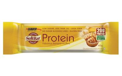 Leader SoftBar 60g Banaanimuffinsin makuinen proteiinipatukka gluteeniton