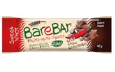 Leader Barebar Chili & Raakasuklaa energia-välipalapatukka 40g