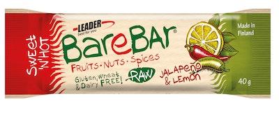 Leader Barebar jalapeno-sitrus energia-välipalapatukka 40g