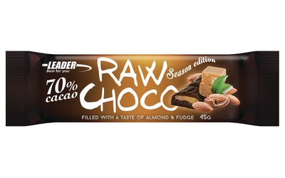 Leader Raw Choco 45g Almond & Fudge