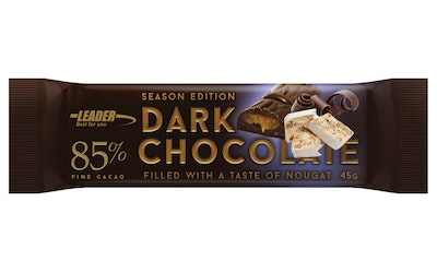Leader Dark Chocolate 85% 45g nougat