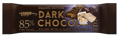 Leader Dark Chocolate 85% 45g nougat