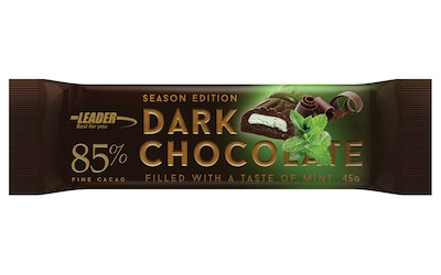 Leader Dark Chocolate 85% 45g mint