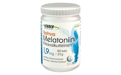 Leader vahva melatoniini 1,9mg 80tabl./25g