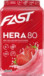 FAST Hera80 600 g mansikanmakuinen heraproteiinijauhe