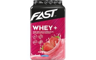 FAST Whey+ 600 g mansikannmakuinen heraproteiinijauhe