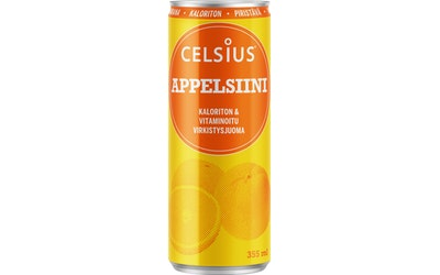 Celsius 355ml appelsiini