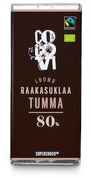 CocoVi luomu Raakasuklaa 30g Tumma 80%