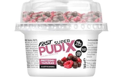 FAST Super Pudix vaniljaproteiinivanukas suklaa&vadelma 165g