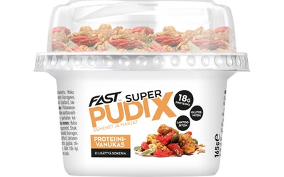 FAST Super Pudix vaniljaproteiinivanukas siemenet&marjat 165g