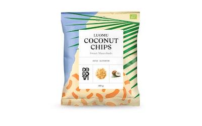 CocoVi Coconut Chips 60g mascobado luomu