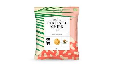 CocoVi Coconut Chips 60g chili luomu