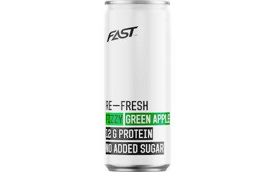 Fast Re-Fresh Protein Fizzy Green Apple 0,33l