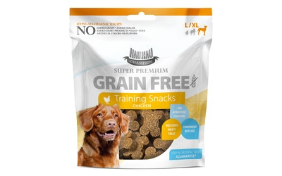 Hau-Hau Champion Super Premium Grain Free training snacks large/x-large 100g, kana