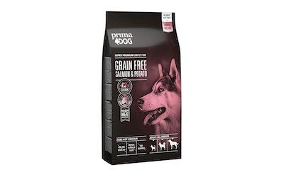 Prima Dog täysravinto aikuisille koirille 10kg lohi ja peruna, viljaton