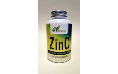 Health Store ZinC zinc 25mg+vitamin C 500mg 400 tablettia