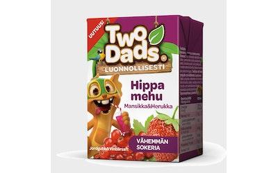 TwoDads Hippamehu mansikka-herukka 2dl