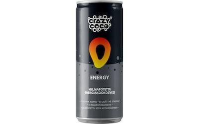 Crazy Coco mango hiilihapotettu energiakookosvesi 250 ml