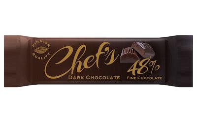 Chef's Dark choco 48% tumma suklaa 40g
