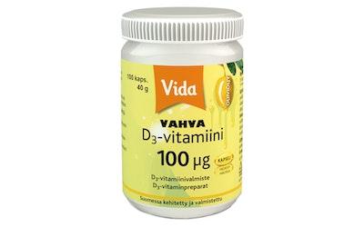 Vida D3 vitamiini 100ug 40g100kaps oliiv