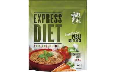 Express Diet 48 g kasvis Bolognese pasta-ateria-aines.