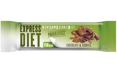 Express Diet VLCD 45 g suklaakeksin makuinen patukka