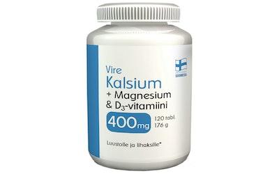 Vire hivenaine- ja vitamiinivalmiste Kalsium-Magnesium-D-vitamiini 120 tablettia 176g