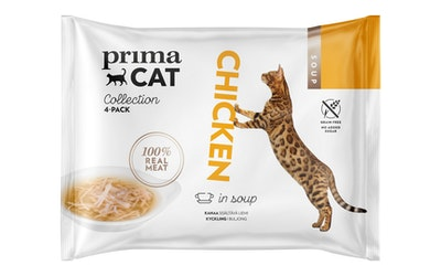 PrimaCat Soup 4x40g kanaa sisältävä liemi