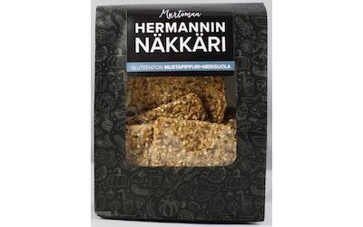 Hermannin Näkkäri 210g mustapippuri-merisuola gluteeniton