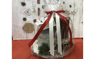 Candle Haven kynttilälahjapakk lasilautasella 2xkynttilä ja servetit - kuva