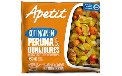 Apetit kotimainen peruna&uunijuures kasvissekoitus 750g pakaste