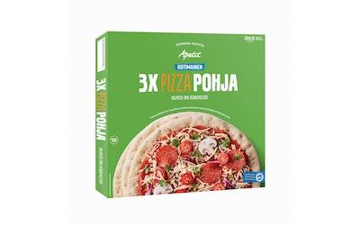 Apetit pizzapohja 3x170g/510g kotimainen pakaste