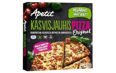 Apetit kasvisjauhispizza herneproteiini-kasvispizza 280g pakaste