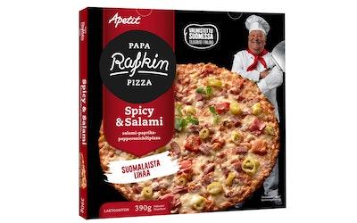 Papa Rafkin pizza Spicy&Salami 390g pakaste