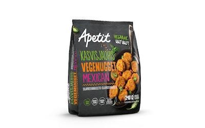 Apetit kasvisjauhis-vegenugget mexican soijaproteiininuggetit 240g pakaste