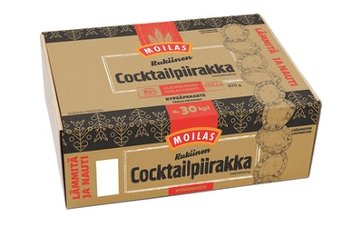 Moilas rukinen cocktailpiirakka noin 30kpl/870g kypsäpakaste