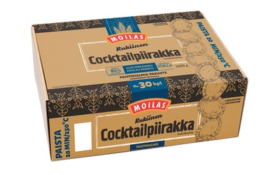 Moilas rukinen cocktailpiirakka 30kpl/1200g, pakaste