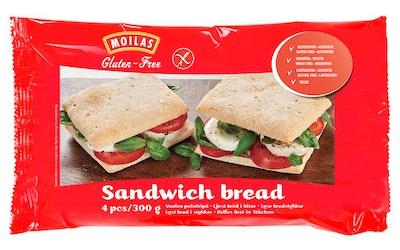 Moilas vaalea palaleipä 4kpl/320g gton